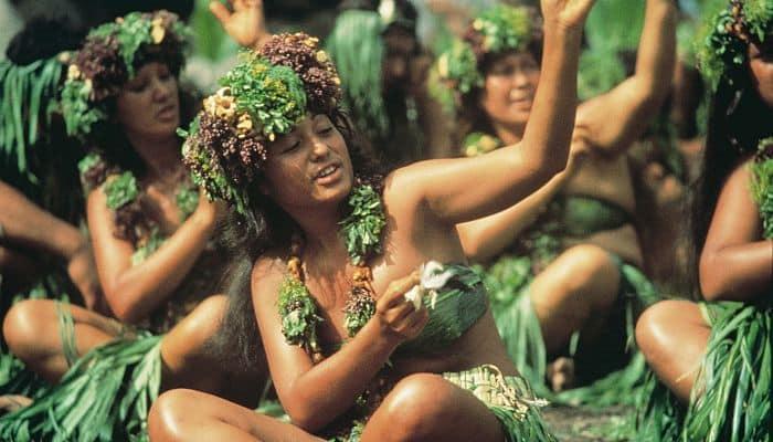 Danzas sensuales mitología Tahitiana