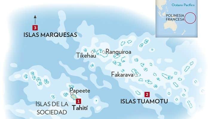Islas de la sociedad tahitiana