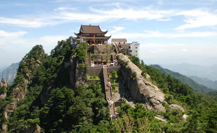 Jiuhua-shan (九Lugares sagrados de China