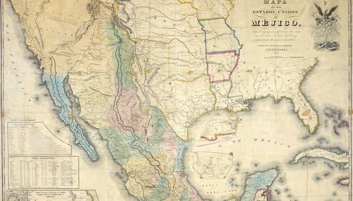 Mapa de la región que ocupa la mitologia de América del Norte