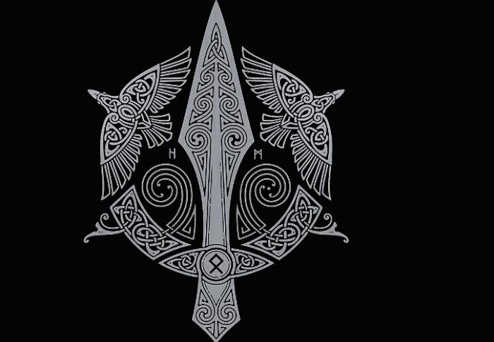 Simbolos de la mitología nórdica lanza de odín