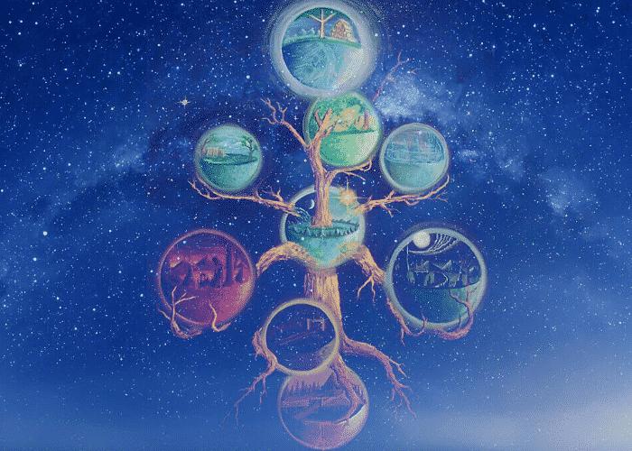 Simbolos de la mitología nórdica siete mundos