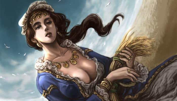 Demeter diosa de la coseha
