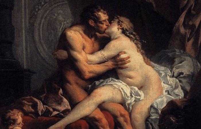 Hércules y esposa
