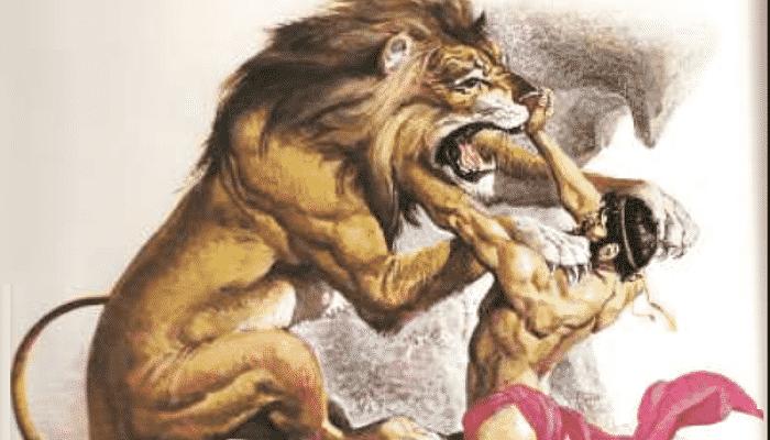 Mitos griegos heracles y el león de nemea
