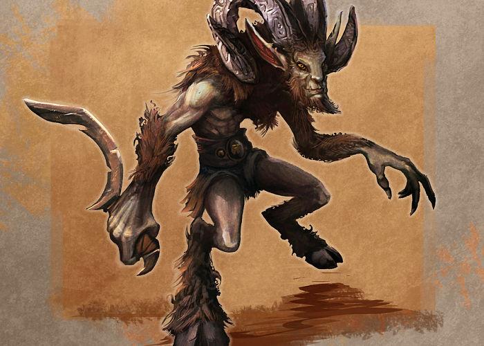 Criaturas de la mitología griega sátiro