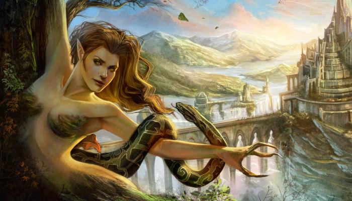 Dríada de la mitología griega