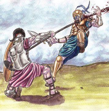 Muerte de Héctor héroes de la mitología griega