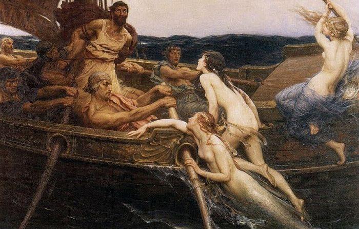 Odiseo en la odisea y las sirenas