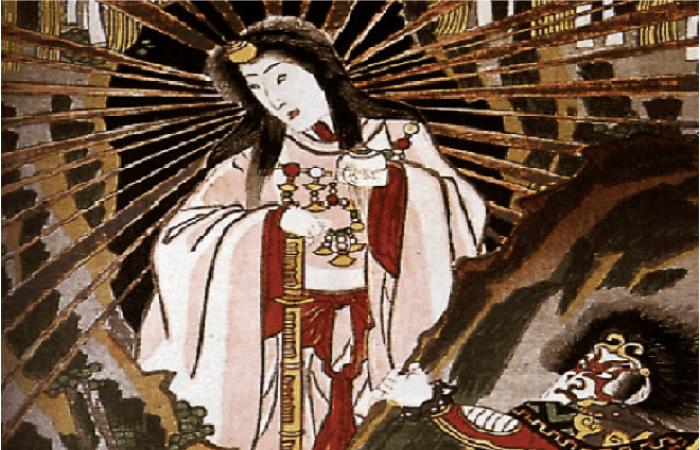 Símbolos de la diosa Amaterasu Okami