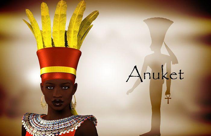Anukis diosa egipcia