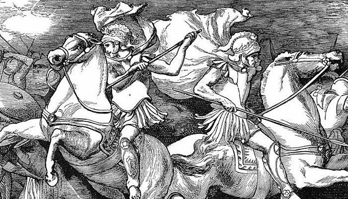 Constalciones de la mitología griega Géminis