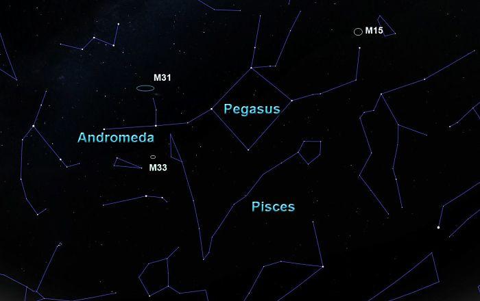 Estrellas principales de la constelación de pegaso