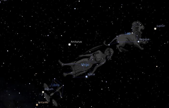 Mito de la constelación de virgo