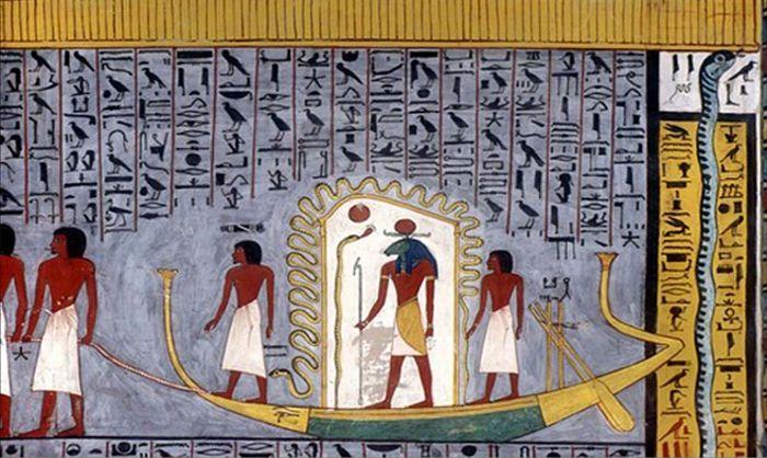 La barca solar de Ra.