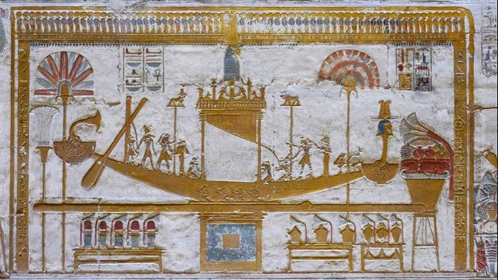 Barcos de la mitología egipcia