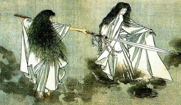 dioses Izanagie Izanami.