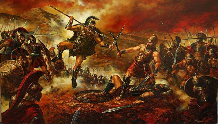 Ares en la guerra de Troya