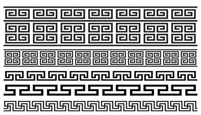 símbolo griego Clave Griega