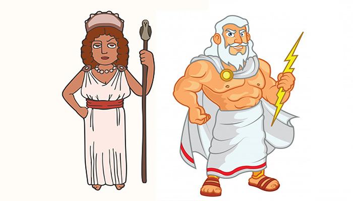 Zeus, Hera y la pequeña vaca