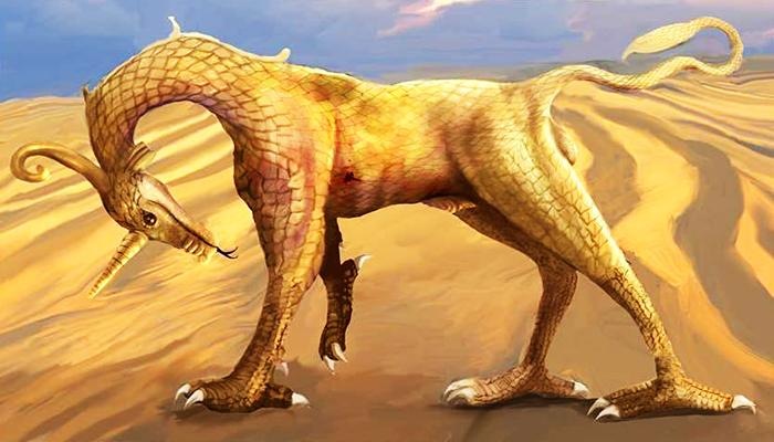 Apsu con forma de dragón